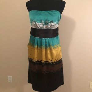 Women's Sz 4 Limited Strapless Dress with Pockets